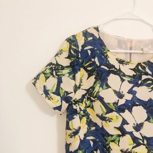 jCrew Floral Shift dress